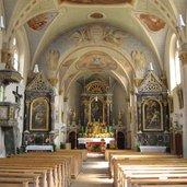 Innenansicht Altar Kirche Terenten