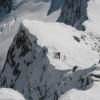 Beeindruckender Blick beim Abstieg vom Ostgrat auf das Skidepot. Foto: BS, © Peer