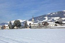 Pfalzen Dorf Winter Falzes paese inverno