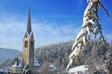 Bruneck Stegen Winter Stegona di Brunico inverno