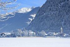 Bruneck Aufhofen Winter Brunico Villa S. Caterina inverno