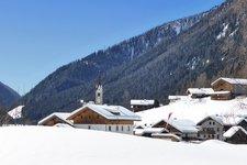 Prettau Dorf Winter Predoi paese inverno