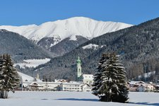 Toblach Dorf Winter