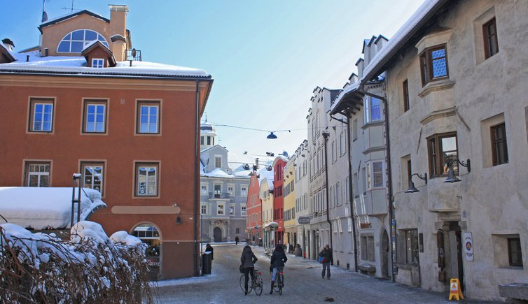 Bruneck Stadt Winter Città di Brunico inverno