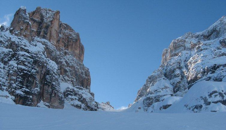 Escursione scialpinistica alla Forcella del Cristallo, Foto: BS, © Peer