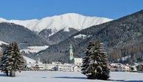 Toblach Dorf Winter