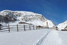 Die Fane-Alm im Winter